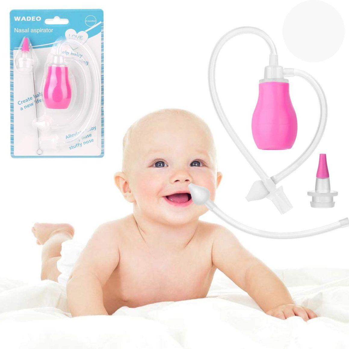 Aspiratore nasale per neonati con pompa Wadeo