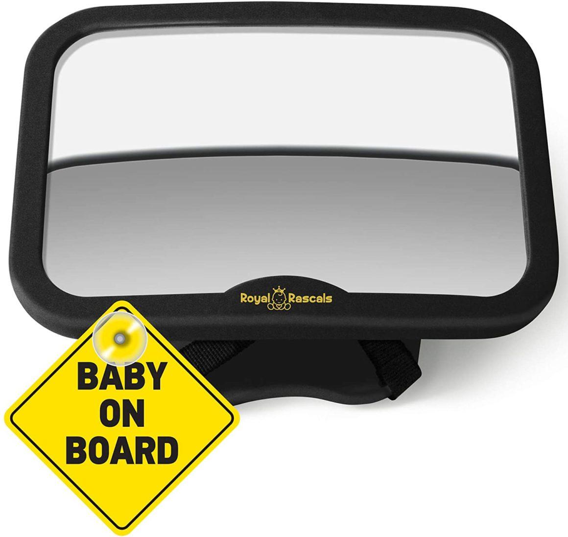 Specchio per auto inclinabile e girevole Royal Rascals