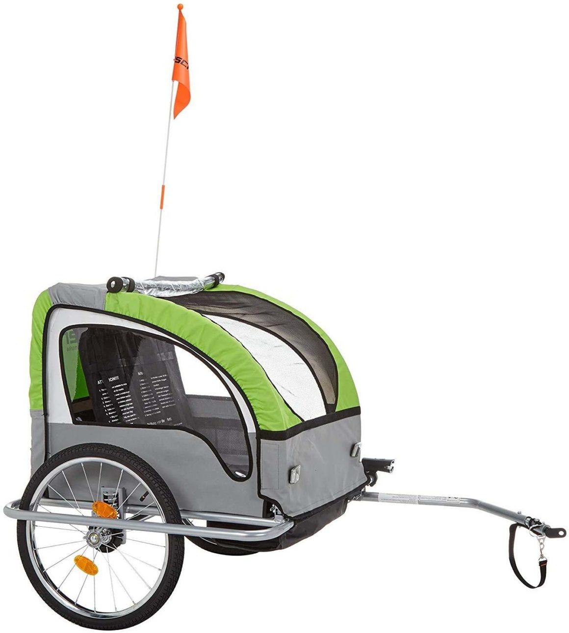 Rimorchio per bicicletta per bambini Comfort Fischer 86388 con sospensione