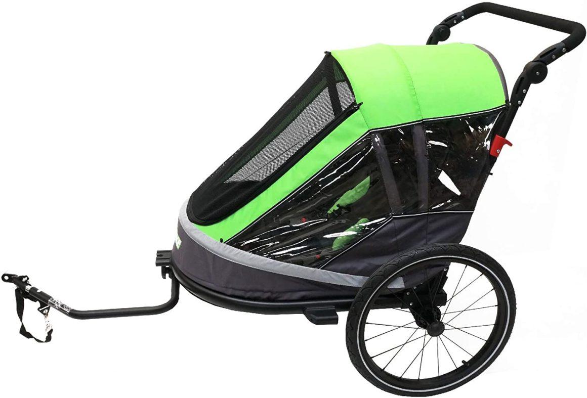 Ax.Bike Child Trailer 1-Step 1-2 Bambino / i grigio / verde
