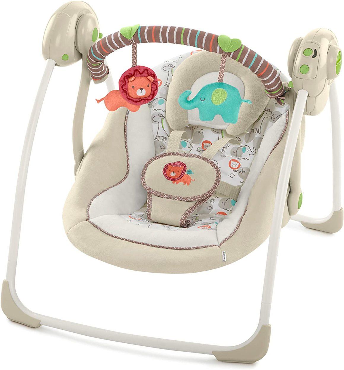 Altalena elettrica per bambini Ingenuity Cosy Kingdom
