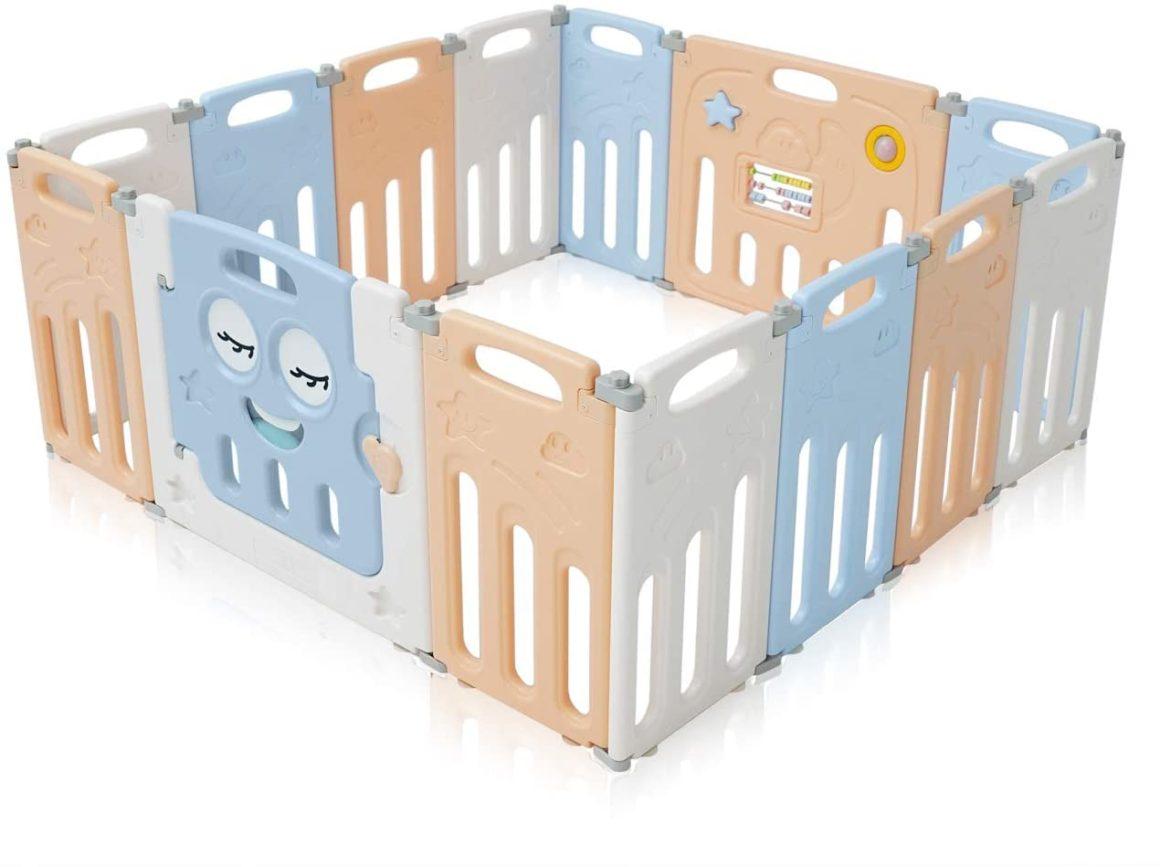 Cancello di sicurezza pieghevole Baby Vivo per area giochi bimbi